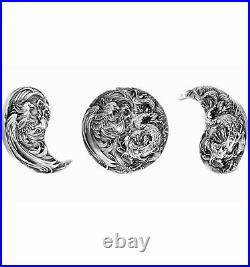 CHINESE DRAGON AND PHOENIX Eternal Bond Set Silver Coin 10000 Francs Chad 2021
