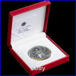 Cameroon 2021 The Lady and the Dragon Apocalypse 3000 CFA silver coin 3oz