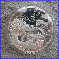Canada 2012 $250 1 Kilo. 999 Silver Coin Dragon Display Case And Certificate