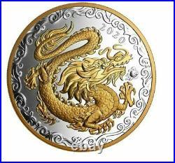 Canada 2020 125$ Lucky Dragon Lunar 1/2 Kilogram Pure Silver Coin Royal Canadian
