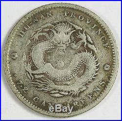 China (1898) Hunan Province 10 Cent Silver Dragon Coin VF L&M-381 Y#115