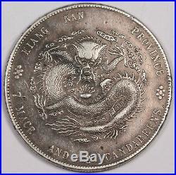 China Kiangnan 1901 Dragon $1 Silver Coin XF/AU Thin HAH L&M-241 KM-Y145a. 6