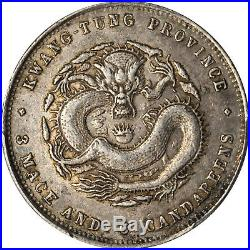 China Kwangtung 50 Cent Silver Dragon Coin, 1890-05 PCGS AU53 Y-202 LM-134