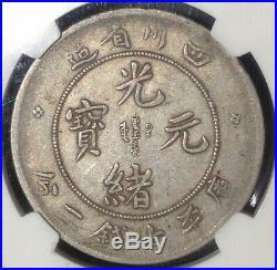 China Szechuan 1901-08 $1 Dollar Silver Dragon Coin Ngc L&m-345 Y238 Vf 20