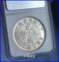 China dragon silver Coin Kiangnan Province $1, year 1904, High Quality MS 62