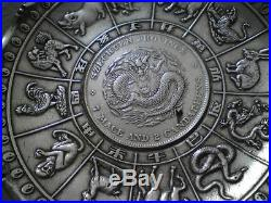 Chinese Wai Kee 90 Silver dish Szechuen dollar Dragon coin Animal Zodiac