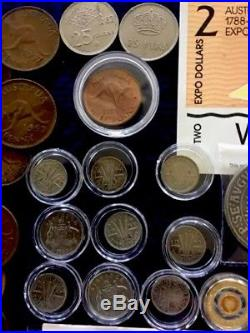 Coins & Note Collection Bulk Lot Pre Decimal Red Poppy Silver Dragon Pennies
