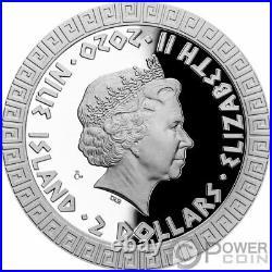 DRAGON Mythical Creatures 1 Oz Silver Coin 2$ Niue 2020
