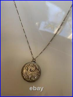 DRAGON Victorian French Silver Plate Griffen Winged Lion Chatelaine Coin Holder