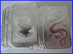 Dragon 1 ounce Silver bullion bars x 20 Troy ounces 20x1oz pure 9999 bullion