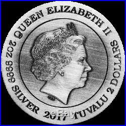 Dragon 2017 2oz Silver Antiqued High Relief Coin