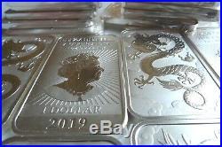 Dragon silver bullion bars 10 x 1oz 999 silver New 2019 official Perth Mint