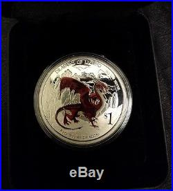 Dragons of Legend Red Welsh Dragon 2012 1oz Silver Proof