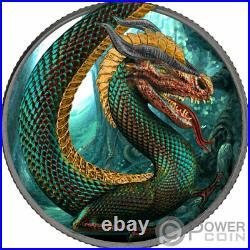 FAFNIR GEMINUS Dragon Metallic Color 1 Oz Silver Coin 5 Mark Germania 2020