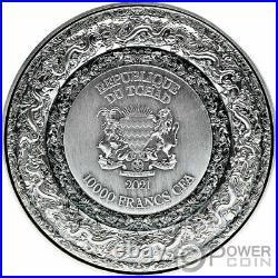 FORBIDDEN DRAGON 2 Oz Silver Coin 10000 Francs Chad 2021