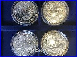 FULL SET Queen's Beasts Silver 2 oz coins Griffin Bull Lion Dragon 9 coins 18oz