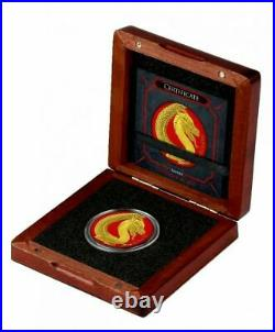 Fafnir Space Red & Yellow Gold Gilded Dragon 1 Oz 5 Mark Germania