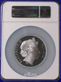 Fiji 2012 Lunar Year of Dragon $50 Mother of Pearl 5oz Silver Coin NGC PF69