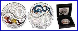 Fiji 2012 Yin & Yang Year of the Dragon 21/2 Oz Silver Proof coin