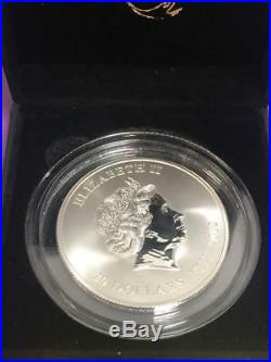 Fiji Fire Red Dragon with Ruby $20 Inverse Proof Box & COA FREE SHIPPING