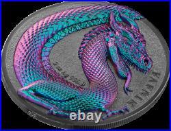 Germania Beasts Fafnir Ultra High Relief 2020 Silver 2 OZ Ounce 10 Mark Dragon