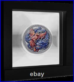 Ghana 2021 Oriental Culture Coin Phoenix Dragon 10 Cedis silver coin 50g