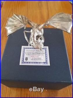 JM Bullion 8 oz Antique Finish Coco the Dragon Silver Statue (Box + CoA)