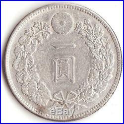 Japan Silver Coin Dragon 1Yen 1908 (Meiji41) Key date Very rare