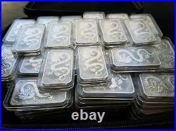 LOT (10) 2019 Australian Perth Dragon 1 oz. 9999 Silver Coin Bar Bullion
