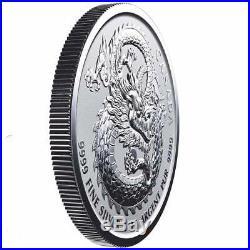 LUCKY DRAGON 2019 25 x 1 oz Pure Silver High Relief Coin in TUBE Canada RCM