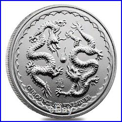 Lot of 10 2018 1 oz Niue Silver $2 Double Dragon BU