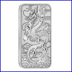 Lot of 10 2018 1 oz Silver Australian Dragon Coin Bar $1 BU