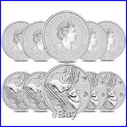 Lot of 10 2020 1 oz Silver Lunar Year of The Mouse / Rat Dragon Privy BU