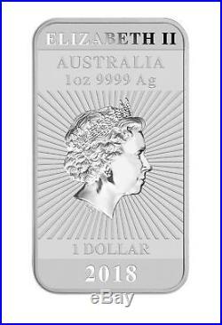 Lot of 100 2018 $1 1oz Silver Australian Bullion Dragon Rectangular Coin (Bar)