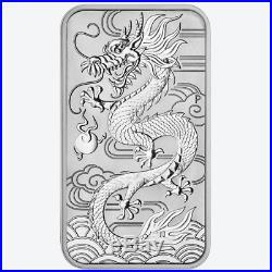 Lot of 20 2018 $1 Silver Australian Dragon Rectangle 1 oz BU Full Roll