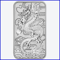 Lot of 200 2018 $1 Silver Australian Dragon Rectangle 1 oz BU Full Monster Box