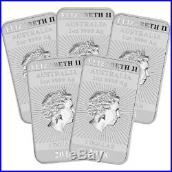 Lot of 5 2018 $1 Silver Australian Dragon Rectangle 1 oz Brilliant Uncirculate
