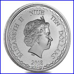 Lot of 5 2018 5 oz Niue Silver $10 Double Dragon BU