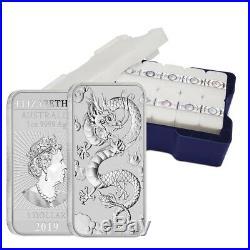 Lot of 5 2019 1 oz Silver Australian Dragon Coin Bar $1 BU