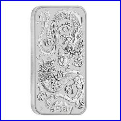 Lot of 5 2020 1 oz Silver Australian Dragon Coin Bar $1 BU