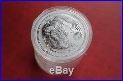 Lunar II Dragon 1 Oz Privy Mark. 999 Pure Silver Coins Sealed Roll Of 10 Coins