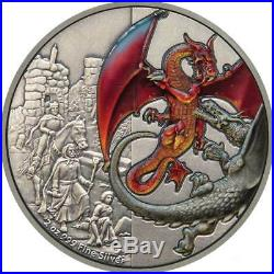 MYTHICAL DRAGONS RED DRAGON 2019 Niue 2oz silver coin