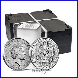 Monster Box of 200 2017 Great Britain 2 oz Silver Queen's Beast (Red Dragon) C
