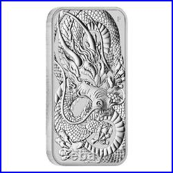 Monster Box of 200 2021 1 oz Silver Australian Dragon Coin Bar $1 BU 10 Tube