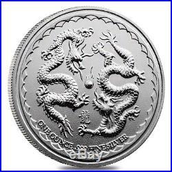 Monster Box of 400 2018 1 oz Niue Silver $2 Double Dragon BU 20 Tube, Lot of