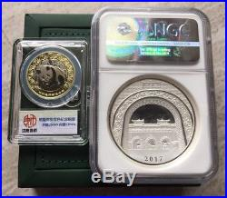 NGC PF70 2017 Nanjing mint Panda Dragon 65g silver Panda Coin Medal First releas
