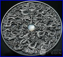 NINE DRAGONS Chinese Legends 2 Oz Silver Coin 5$ Niue 2020