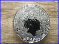 New Valiant 2021 Silver 10oz Bullion Coin St George and the dragon Capsuled