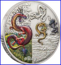 Niue 2019 Silver $5 Proof Coin- 2 OZ Silver Dragons The Four Dragons