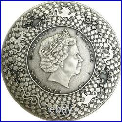 Niue 2020 2$- Dragons Aztec Dragon 2 Oz silver coin
